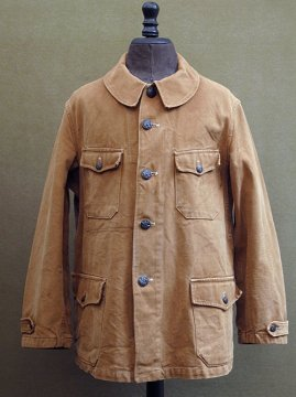cir. 1940-1950's brown canvas hunting jacket