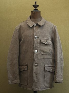 mid 20th c. brown gray pique hunting jacket