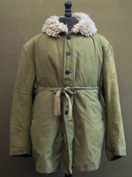 cir. 1940's heavy mouton liner jacket