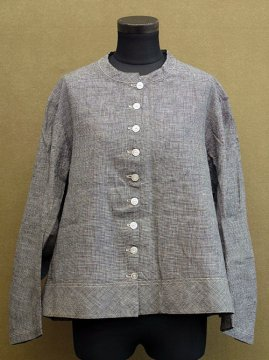 late 19th c. checked cotton blouse