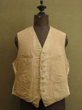 1930's brown striped gilet
