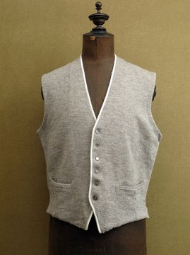 cir. 1930-1950's gray wool gilet