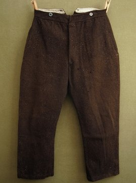 early 20th c. brown wool work trousers