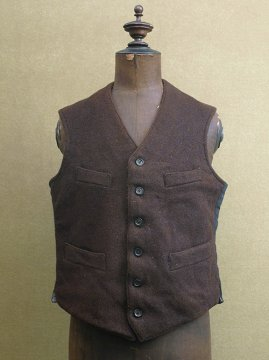 ~1930's brown wool work gilet