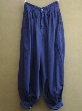 cir. 1940's blue zouave pants