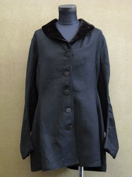 1910-1920's black wool jacket