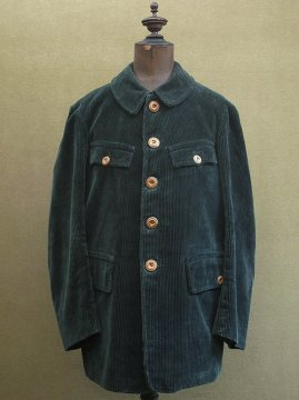 cir.1930-1950's green cord hunting game keeper jacket