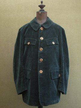 cir.1930-1950's green cord hunting game keeper jacket
