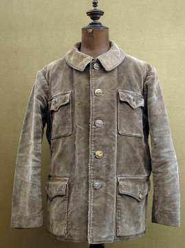 1930-1940's brown cord hunting jacket