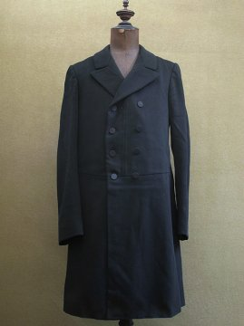 early 20th c. black wool double breasted frock coat