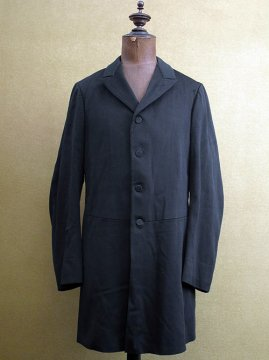 early 20th c. black wool single breasted frock coat