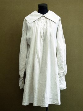 19th c. linen shepherd's work smock