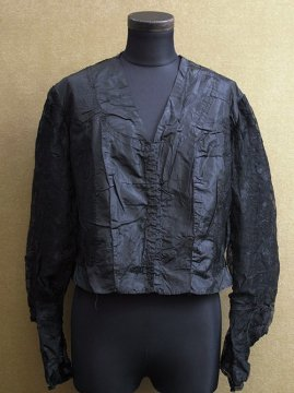 1900-1910's black silk blouse