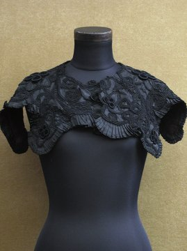19th c. black silk collar