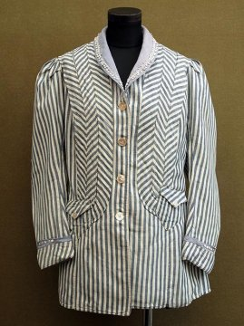 1900-1910's indigo striped jacket