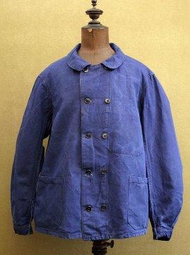 cir.1940's double breasted linen work jacket