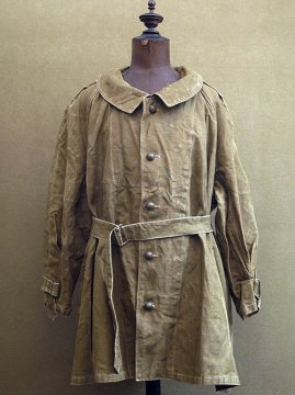 1940's French military linen motorcycle coat