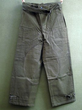 cir.1940's motorcycle over pants