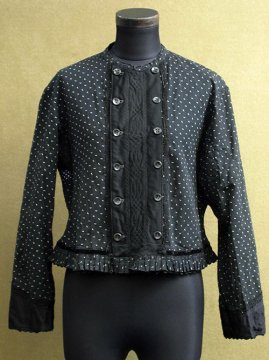 cir.1930's printed black blouse