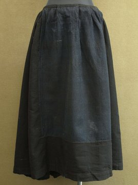late 19th - early 20th c. indigo wool skirt