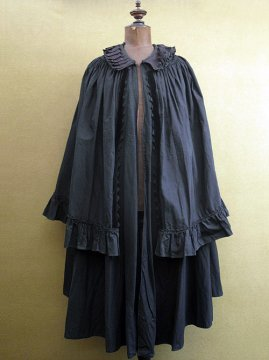 19th - early 20th c. dots printed indigo cape