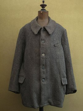 cir. early 20th c. pattern woven wool work jacket