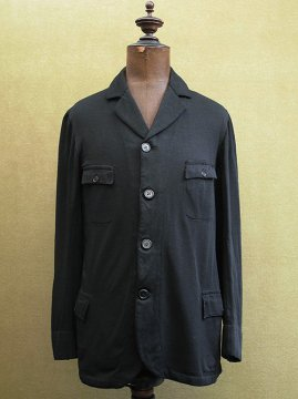 cir.1910-1920's black jersey sack coat