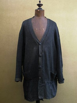 ~1930's black wool knitted cardi