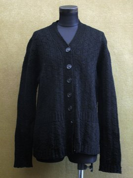 ~1930's black knitted cardi