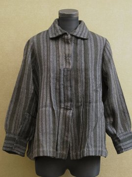 1910-1930's striped wool blouse / jacket