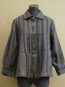 1910-1930's striped wool blouse / jacket