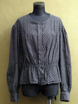 1910-1930's printed black blouse