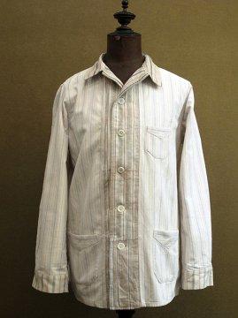 cir.1940-1950's striped pajama jacket