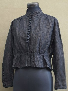 1900's black lace blouse