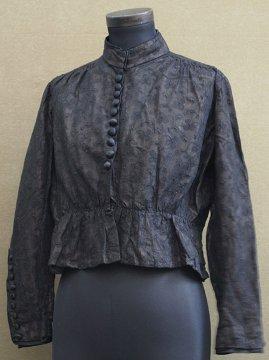 1900's black lace blouse