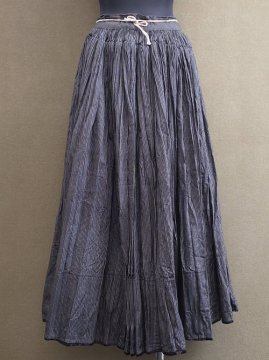 cir. 1920-1940's black striped skirt I