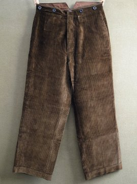 1930-1940's brown cord trousers
