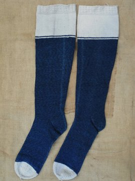 1900's indigo cotton socks