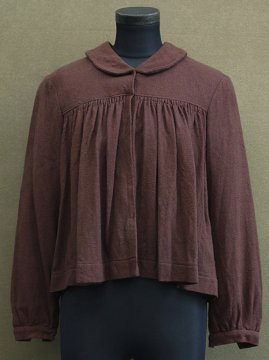 cir. 1930's brown wool blouse