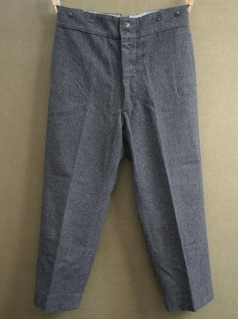 cir. 1940's gray checked wool work trousers