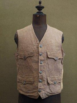 1920-1930's linen hunting gilet