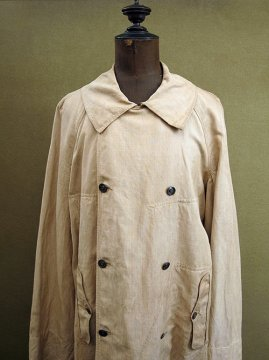 early 20th c. double breasted linen coat