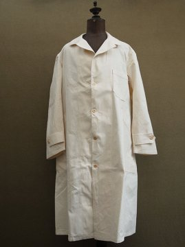 mid 20th c. ecru cotton work coat
