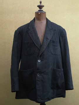 cir. 1930's black wool jacket