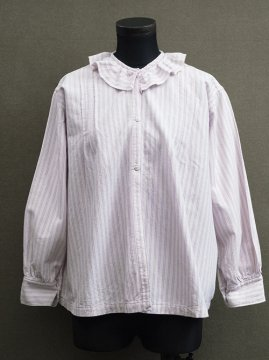 early 20th c. purple striped blouse