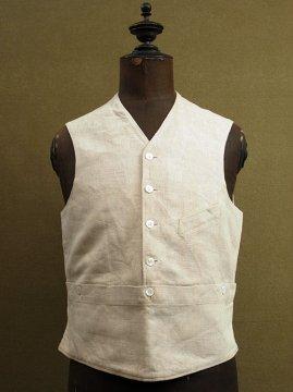 ~1930's linen pullover gilet