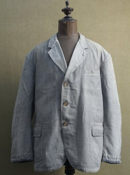 1930-1940's striped cotton work jacket