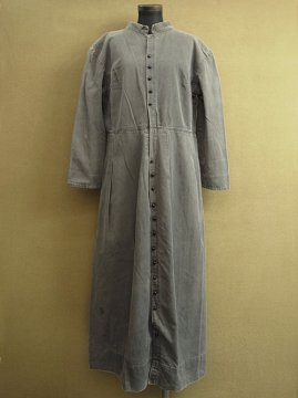 cir.1930-1940's black twill coat / dress