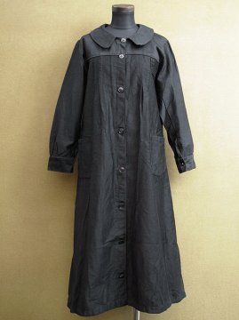 cir.1930's black cotton work coat