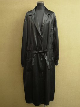 cir.1930-1940's black satin work coat